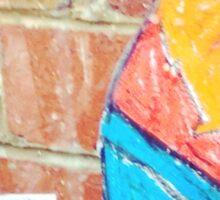 Fox on bricks Sticker