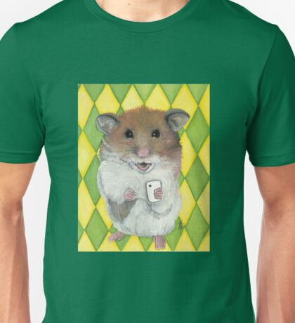 Say Cheese; Selfie Hamster Unisex T-Shirt