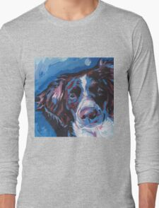 Brittany Spaniel Bright colorful pop dog art Long Sleeve T-Shirt