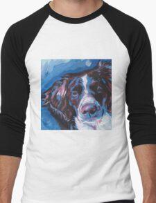 Brittany Spaniel Bright colorful pop dog art Men's Baseball ¾ T-Shirt