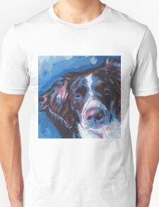 Brittany Spaniel Bright colorful pop dog art Unisex T-Shirt