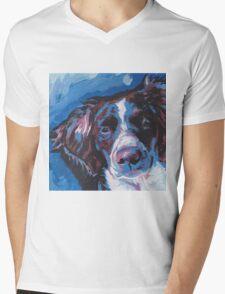 Brittany Spaniel Bright colorful pop dog art Mens V-Neck T-Shirt
