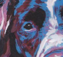 Brittany Spaniel Bright colorful pop dog art Sticker