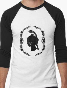 Native American Girl Silhouette Men's Baseball ¾ T-Shirt