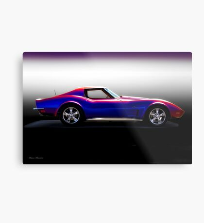 C3 Corvette Stingray 'Studio Two' Metal Print