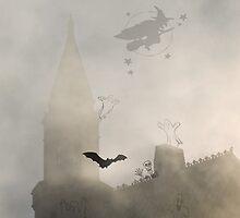Haunted Halloween iPhone by Celeste Mookherjee
