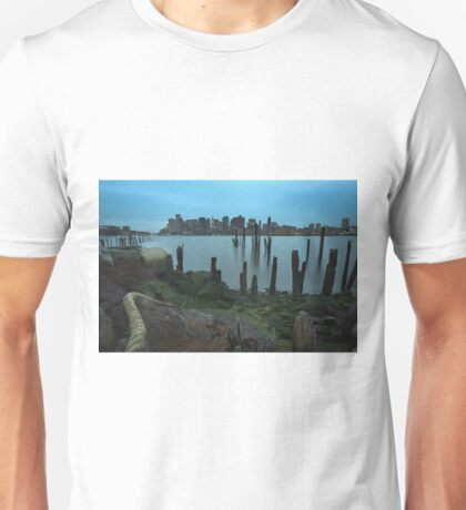 Boston from Lo Piers Park. Unisex T-Shirt