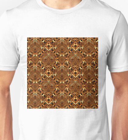 Molten Gold Kaleidoscope Pattern Unisex T-Shirt