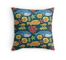 Sea Animals Print Throw Pillow