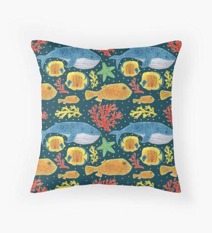Sea Animals Print Throw Pillow