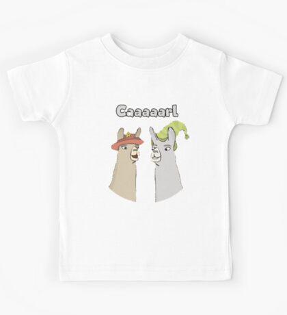Llamas with Hats - Caaaarl Kids Tee