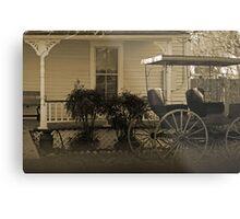 Old house and wagon Metal Print