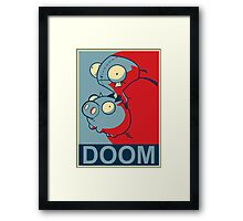 "GIR Doom- ""Hope"" Poster Parody Framed Print"
