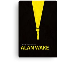 Alan Wake Minimal Poster Canvas Print