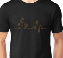 Coffee Heartbeat T-Shirt, Funny Coffee Lovers Gift Shirt Unisex T-Shirt