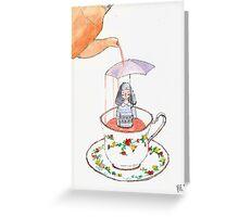 Tea Girl Greeting Card