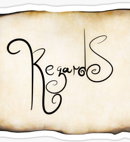 """REGARDS"" Sticker"