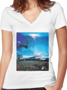 Lost Motel Women's Fitted V-Neck T-Shirt
