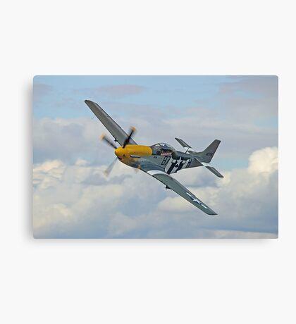 P51 Mustang Ferocious Frankie - Dunsfold 2014 Canvas Print