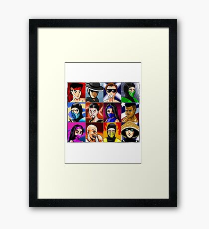Mortal Kombat 2 Character Select (Fan Art) Framed Print