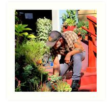 The Gardener Next Door Art Print