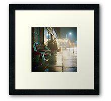 Night at the Hotel Framed Print