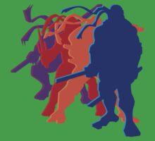 Teenage Mutant Ninja Silhouettes by slugamo