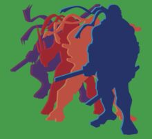 Teenage Mutant Ninja Silhouettes by slugamo