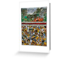 PA FRACKING QUILT Greeting Card