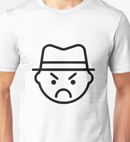 Sinister Looking Frowning Man Unisex T-Shirt