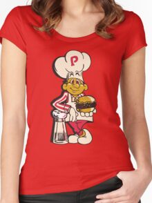 BurgerTime Women's Fitted Scoop T-Shirt