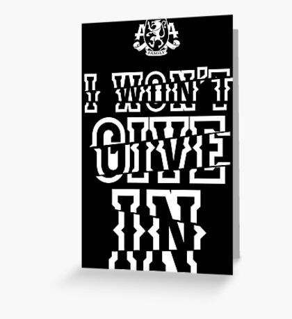 Asking Alexandria I won't give in the black album Greeting Card