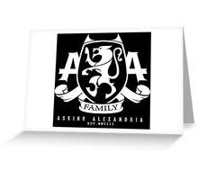 Asking Alexandria Family logo tshirt and hoodie Greeting Card