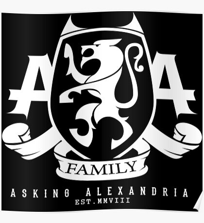 Asking Alexandria Family logo tshirt and hoodie Poster