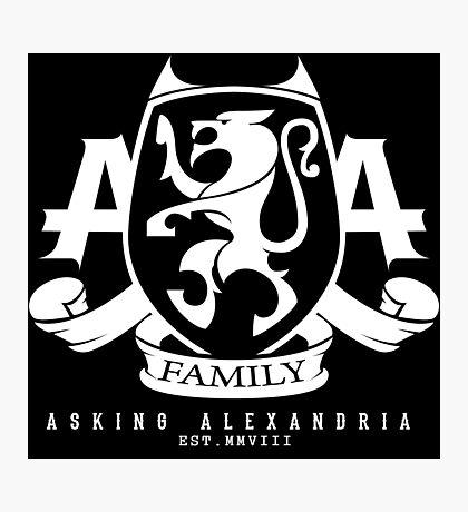 Asking Alexandria Family logo tshirt and hoodie Photographic Print