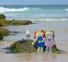 Dollies at the Beach by Sharon Brown