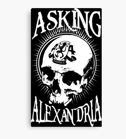 Asking Alexandria Skull  tshirt and hoodie Canvas Print
