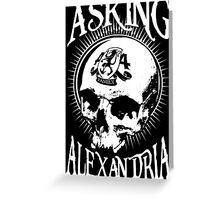 Asking Alexandria Skull  tshirt and hoodie Greeting Card