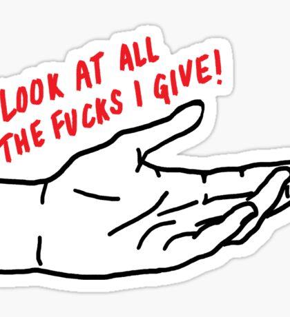 I Don't Care | Trendy/Hipster/Tumblr Meme Sticker