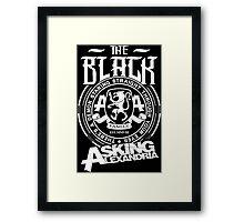 Asking Alexandria  the black album tshirts and hoodies Framed Print
