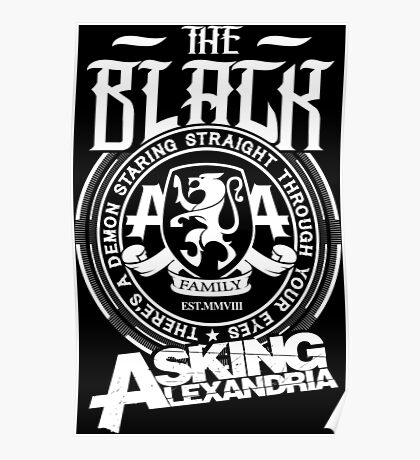 Asking Alexandria  the black album tshirts and hoodies Poster