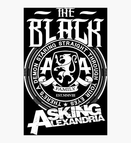 Asking Alexandria  the black album tshirts and hoodies Photographic Print