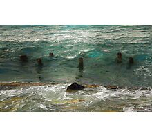 surf. old piles Photographic Print