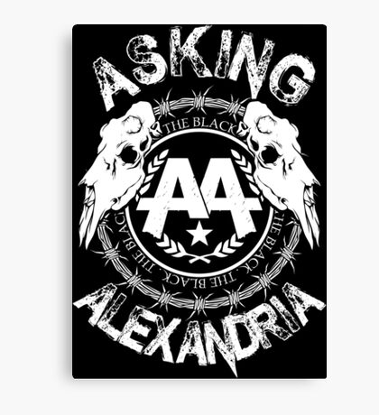 Asking Alexandria  the black album 2 tshirts and hoodies Canvas Print