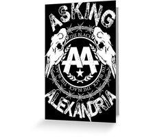 Asking Alexandria  the black album 2 tshirts and hoodies Greeting Card