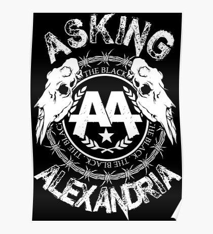 Asking Alexandria  the black album 2 tshirts and hoodies Poster