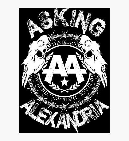 Asking Alexandria  the black album 2 tshirts and hoodies Photographic Print