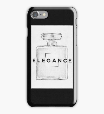 Hand drawn, Grey lead, Perfume Bottle Illustration iPhone Case/Skin