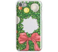Red Ribbon Wreath iPhone Case/Skin