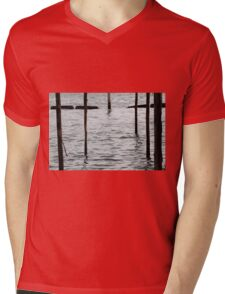 landscape lake Mens V-Neck T-Shirt
